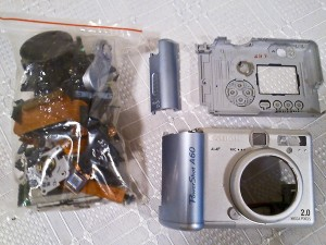 Canon A60 disassembled digital camera