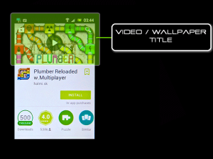 Google Android Play Store Market - Wallpaper / Video title
