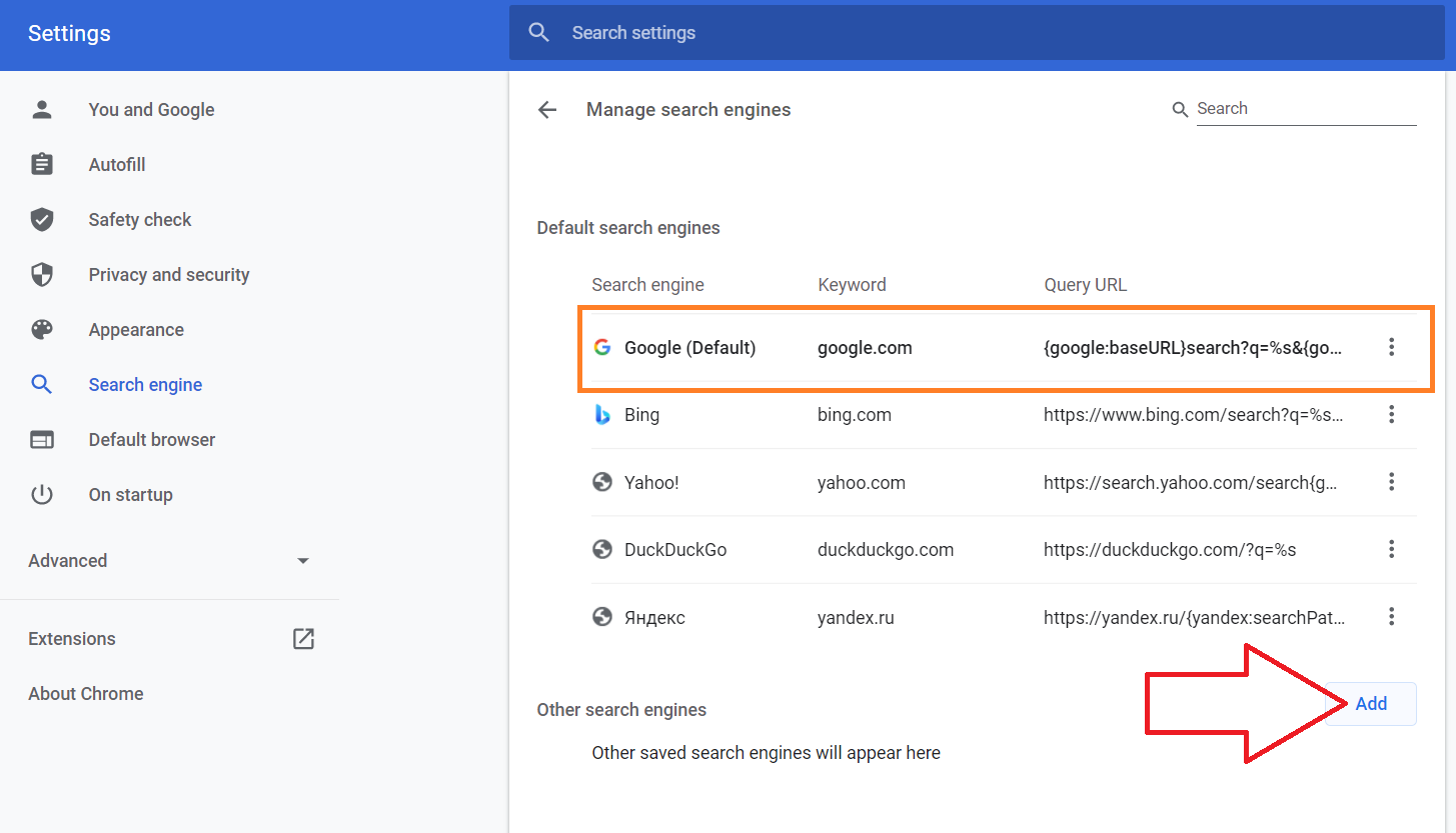 Google Chrome Encrypted Search - Part 3 - Add New Search Engine