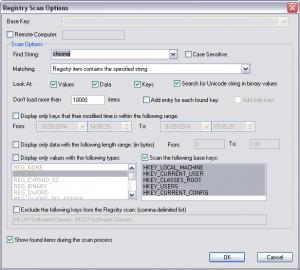 Windows RegScanner Tool