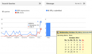 Google Webmaster Tools - Search Queries Chart - Date Delay Difference