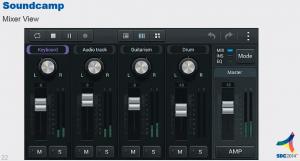Samsung Soundcamp DAW Mixer View