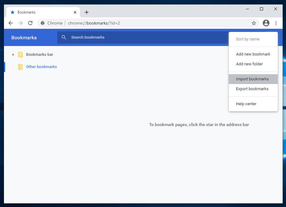 Google Chrome Desktop Browser 89 - Bookmarks Manager - How To Import Bookmarks