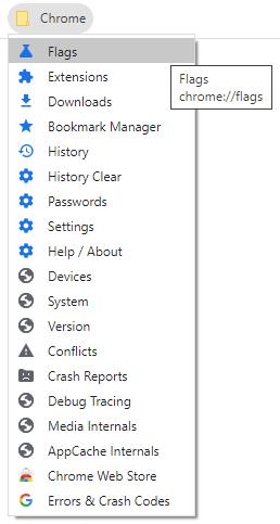 Google Chrome Desktop Browser - System & Hidden Shortcuts