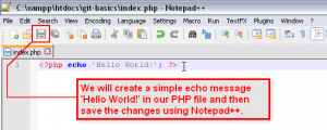 Git Basics 12 Edit Existing PHP File (Part 1) Modify Your Files