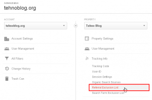 Google Analytics - Referral Exclusion List 1