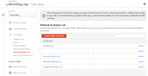 Google Analytics - Referral Exclusion List 3