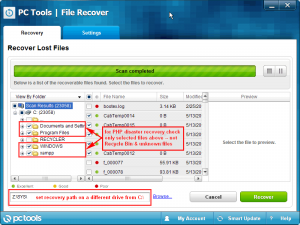 PC Tools File Recoverer