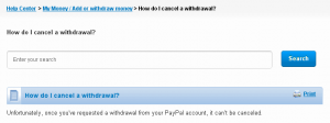 PayPal Support - How To Cancel Withdraw Funds Request