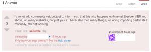 ServerFault.com Deleted 'Comment' Answer