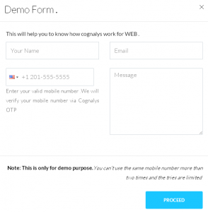 Mobile Phone Verification - Demo Form