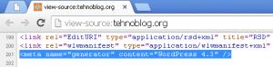 WordPress Meta Generator