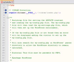 CIDRAM Installation @ WordPress Example