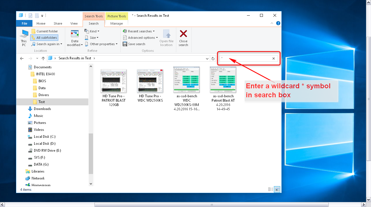 Microsoft windows 10 how to search find all files for Microsoft windows 10