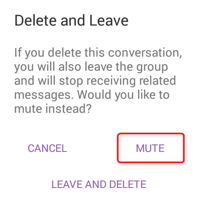 Viber Groups - How To Permanently Leave & Stop Receiving Messages - STEP 3