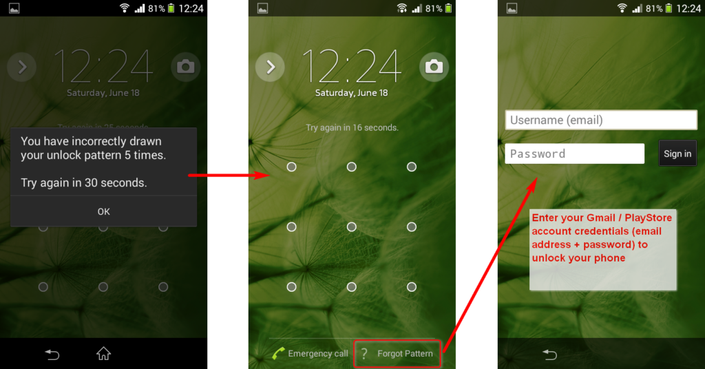 How To Unlock/Bypass Android Phone Screen Password And Remove Security Pattern