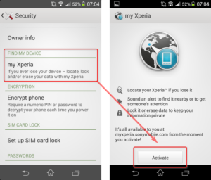 How To Activate myXperia On Sony Android Phone