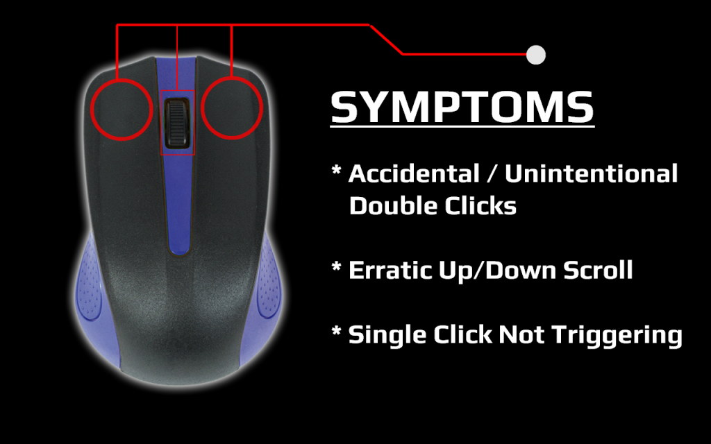 Computer Mouse Repair - Click Buttons and Scroll Wheel Cleaning Guide - Quick Fix