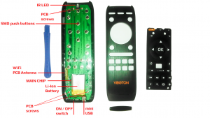 AirMouse Fly Remote AliTV VIBOTON Inside PCB 1