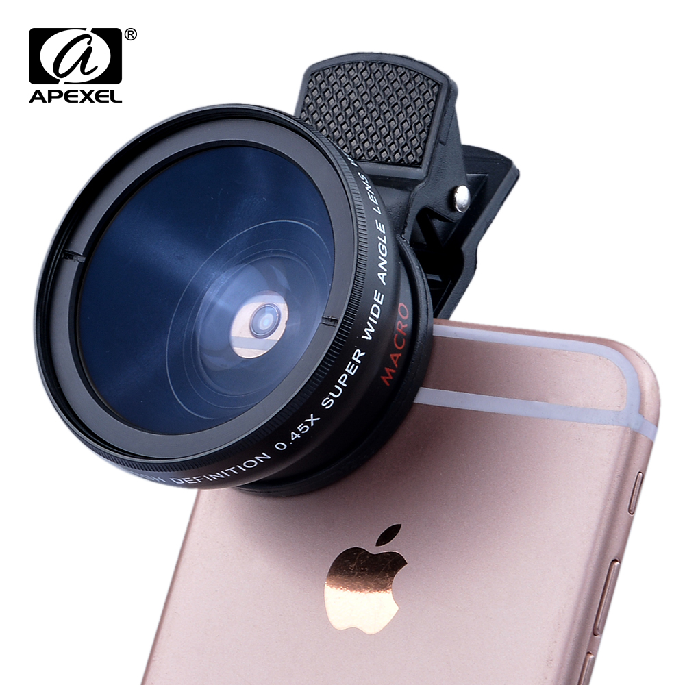 REVIEW Apexel Macro, Wide and Tele Mobile Phone Lens For