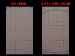 Apexel MINI LENS SET - 0.63x WIDE LENS - Photo Comparison