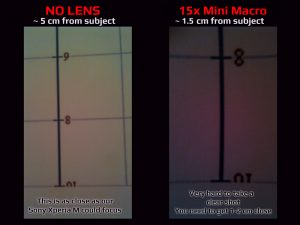 Apexel MINI LENS SET - 15x MACRO LENS - Photo Comparison