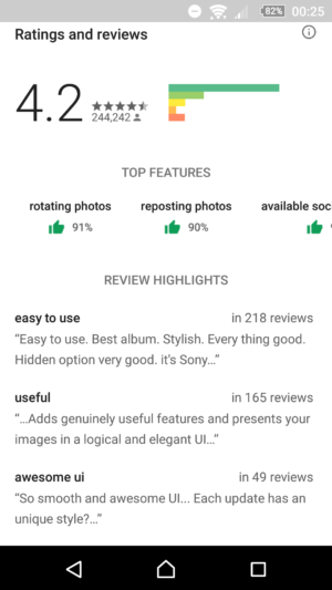 Google Android Play Store App 2018 Update - USER RATINGS