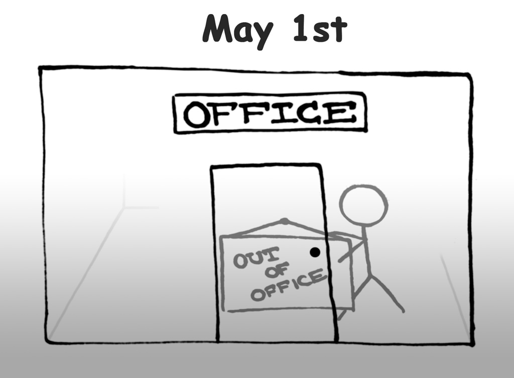 May 1st Out-Of-Office