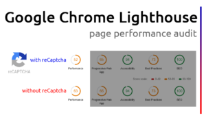 Google Lighthouse Page Performance with-without reCaptcha