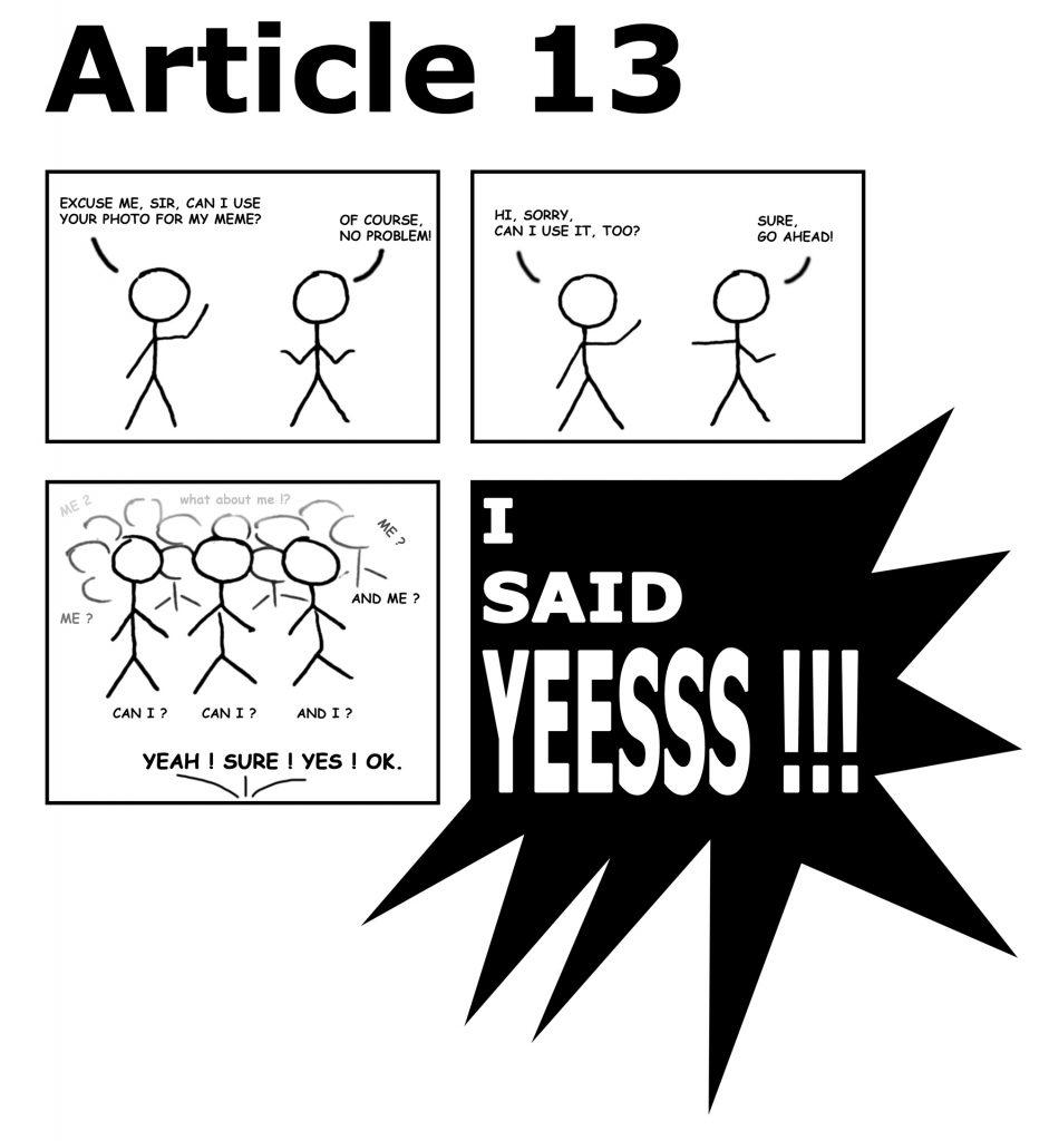 EU Article 13 Comic