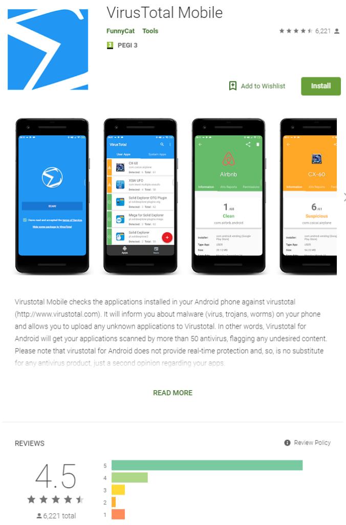 VirusTotal Android Mobile