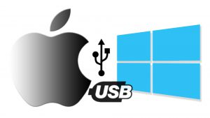 Apple iPhone & Windows USB Connection Artwork