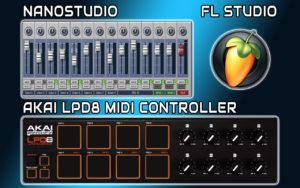 AKAI LPD8 MIDI Controller PADS Programming In FL Studio & NanoStudio - Note Mapping & Playing Demo Tutorial