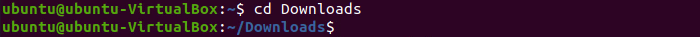 Linux Ubuntu Terminal - cd Downloads