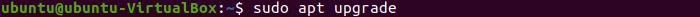 Linux Ubuntu Terminal - sudo apt upgrade