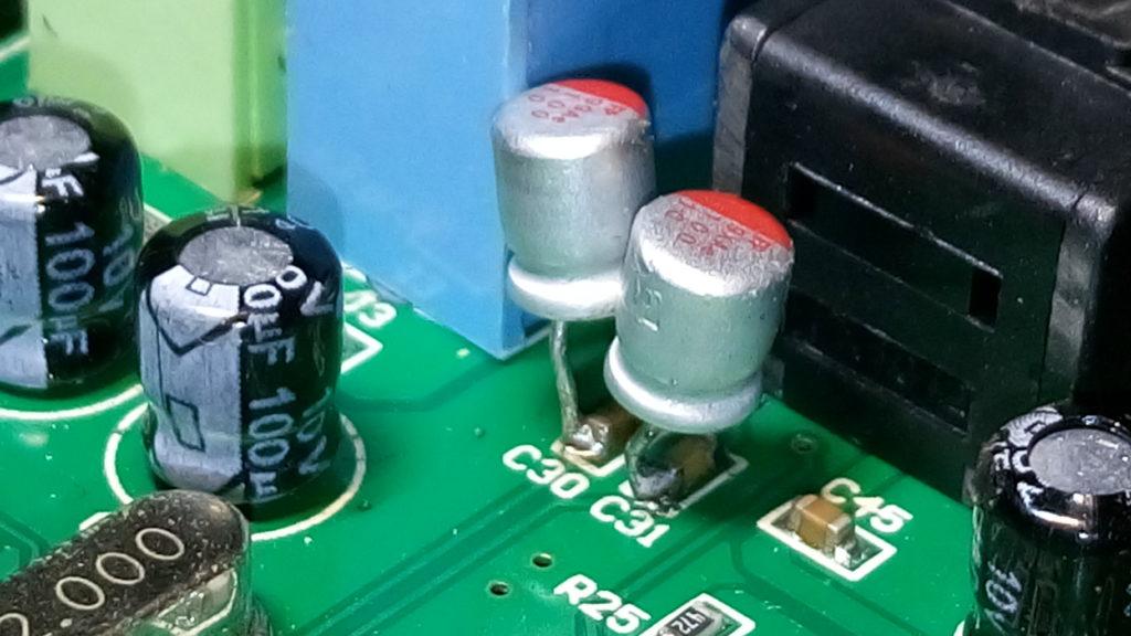 C-MEDIA CM6206 5.1 USB Audio Card - Line-In Coupling Capacitors (2nd Unit Mod)