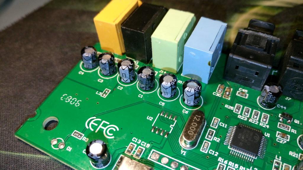 C-MEDIA CM6206 5.1 USB Audio Card - Output Coupling Capacitors