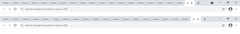 Google Chrome - Tab Search Enabled vs Tab Search Disabled - Comparison