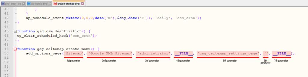 WordPress Plugin Debugging - add_submenu_page was called incorrectly example