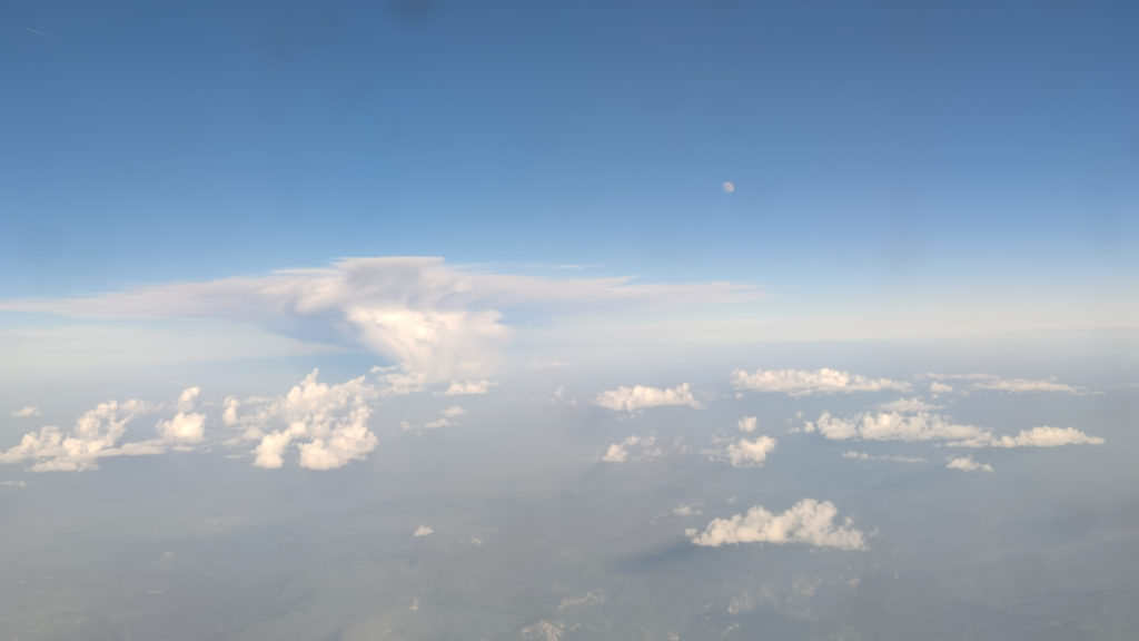 Airplane View Through The Window